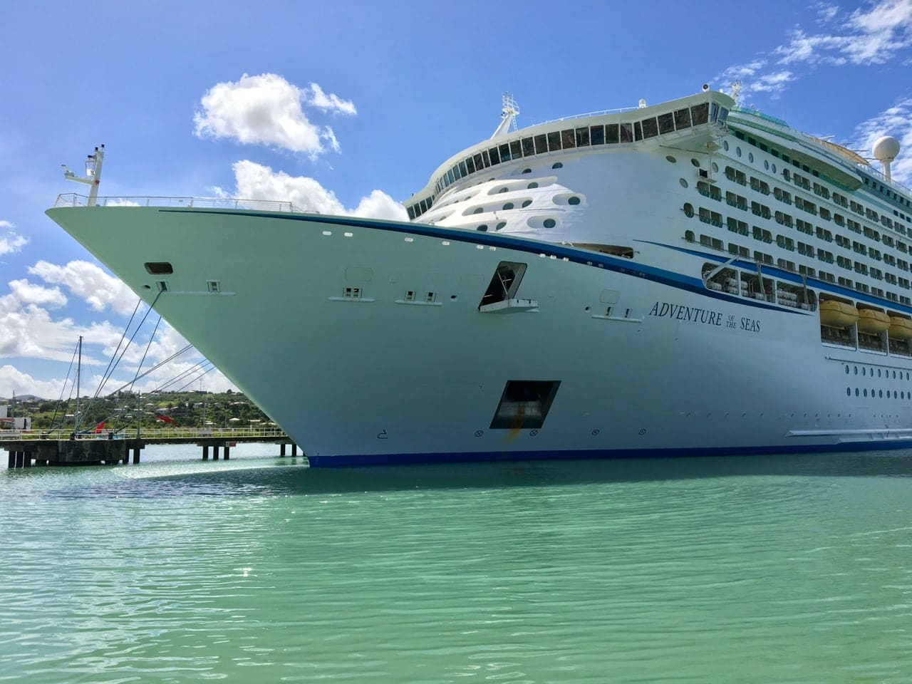 The Adventure of the Seas, our boat for our southern Caribbean cruise.