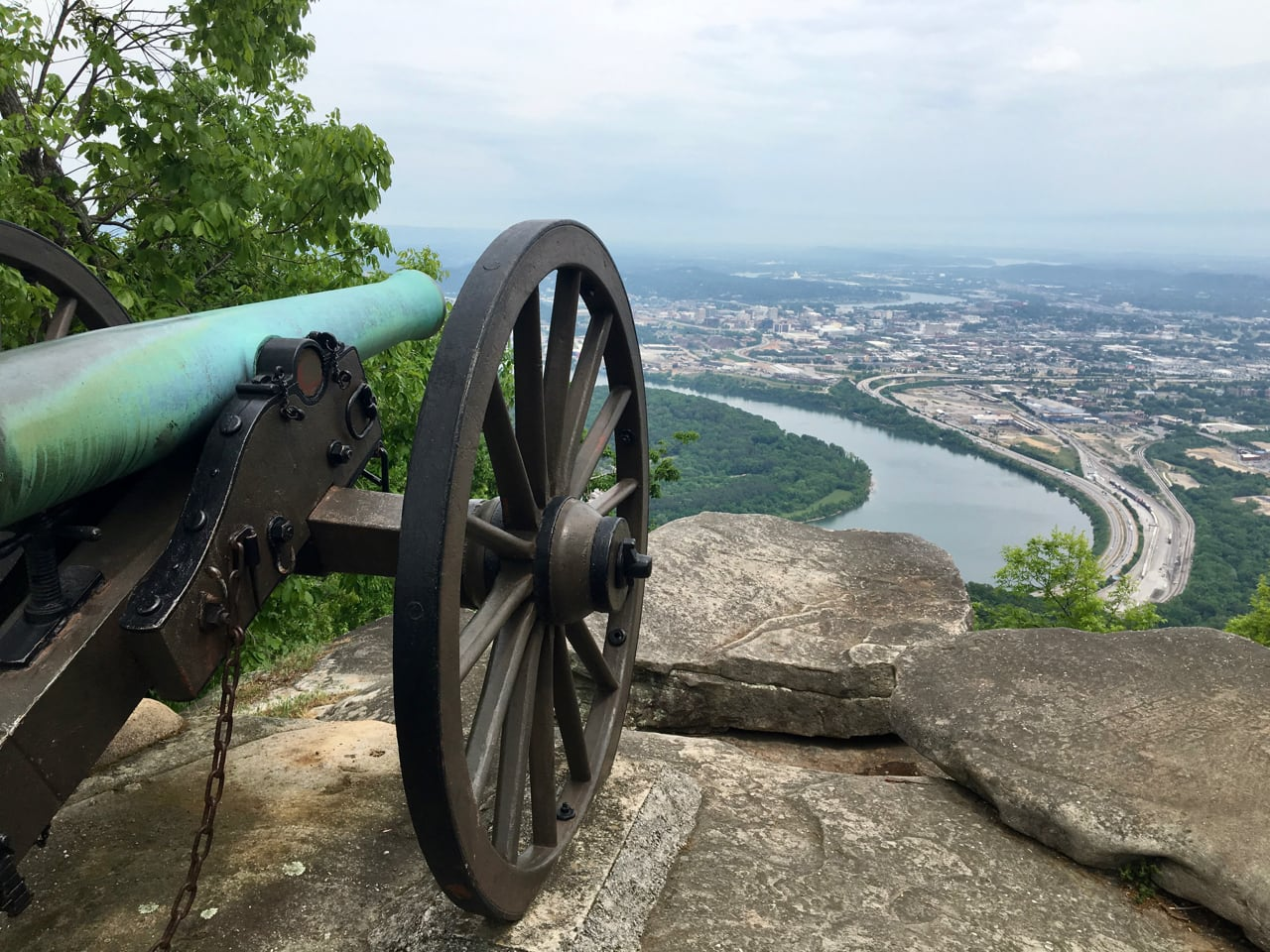 The view from Point Park on Lookout Mountain