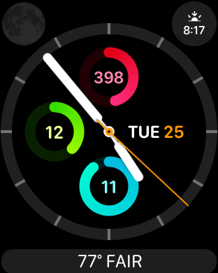 Apple Watch Custom Travel Face