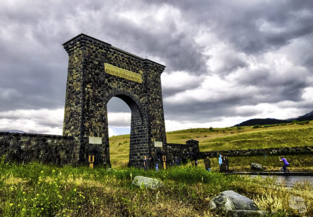 The Roosevelt Arch at the north entrance to Yellowstone