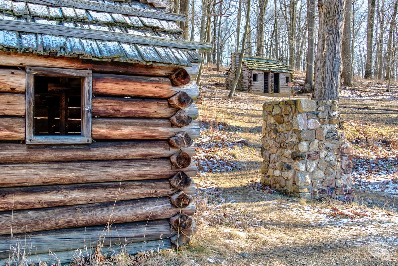 Cabins at Jockey Hollow at Morristown NHP.