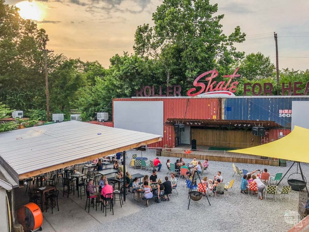 Railgarten offers a really cool outdoor dining and recreational area.