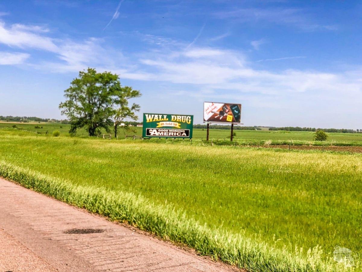 Wall Drug Highway Sign