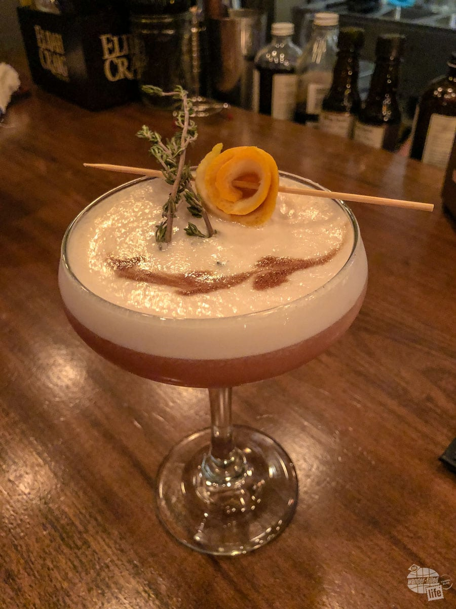 Father Thyme, one of the signature cocktails at the Dancing Bear.