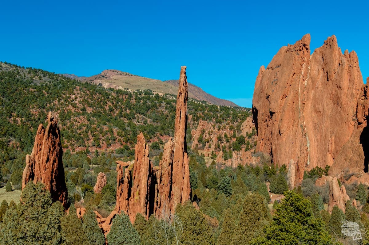 Red rock formations at Garden of the Gods Park