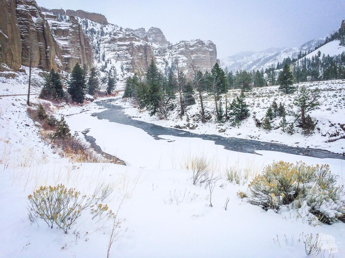The Shoshone River near the entrance to Yellowstone National Park