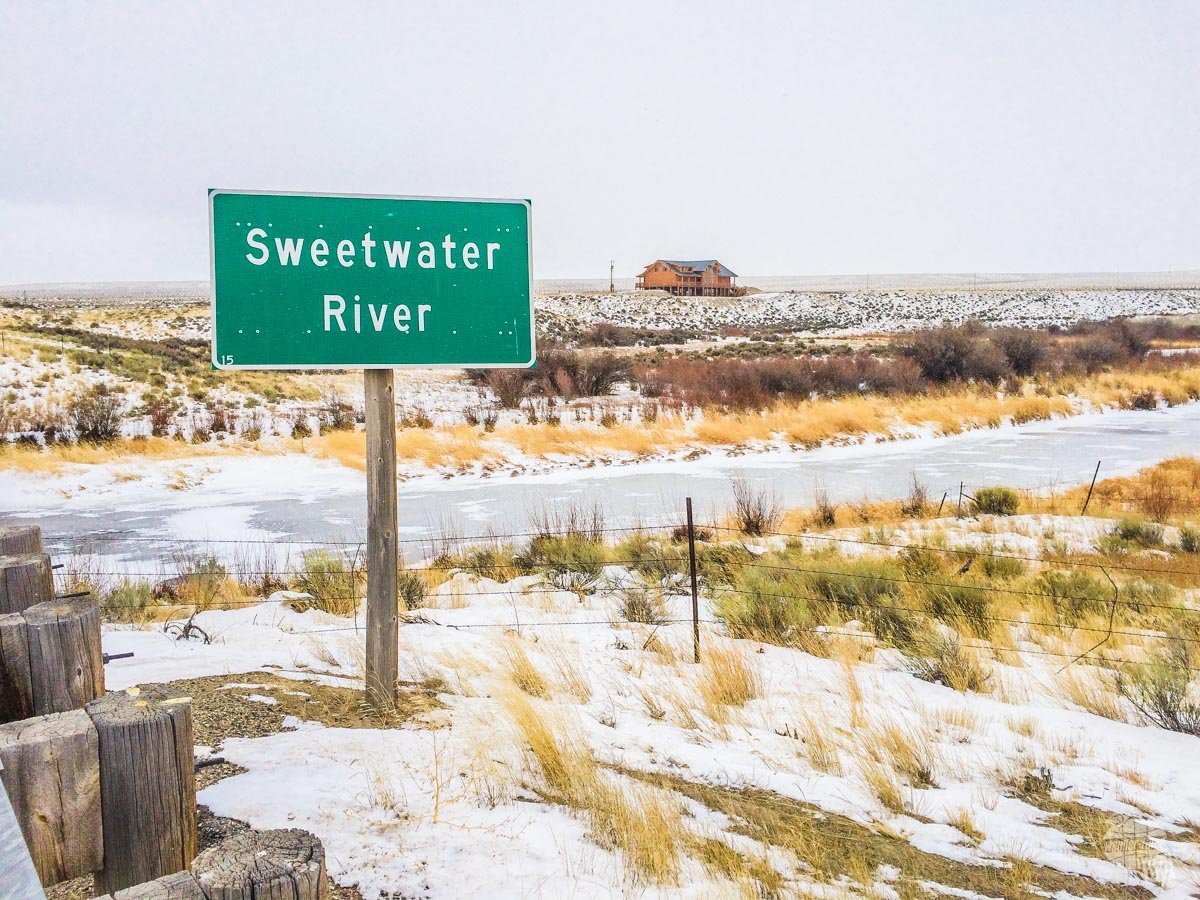 The Sweetwater River in the middle of Wyoming.