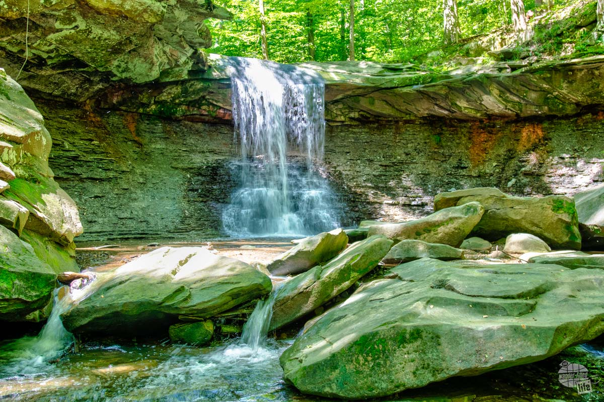 Blue Hen Falls at Cuyahoga Valley National Park in Ohio