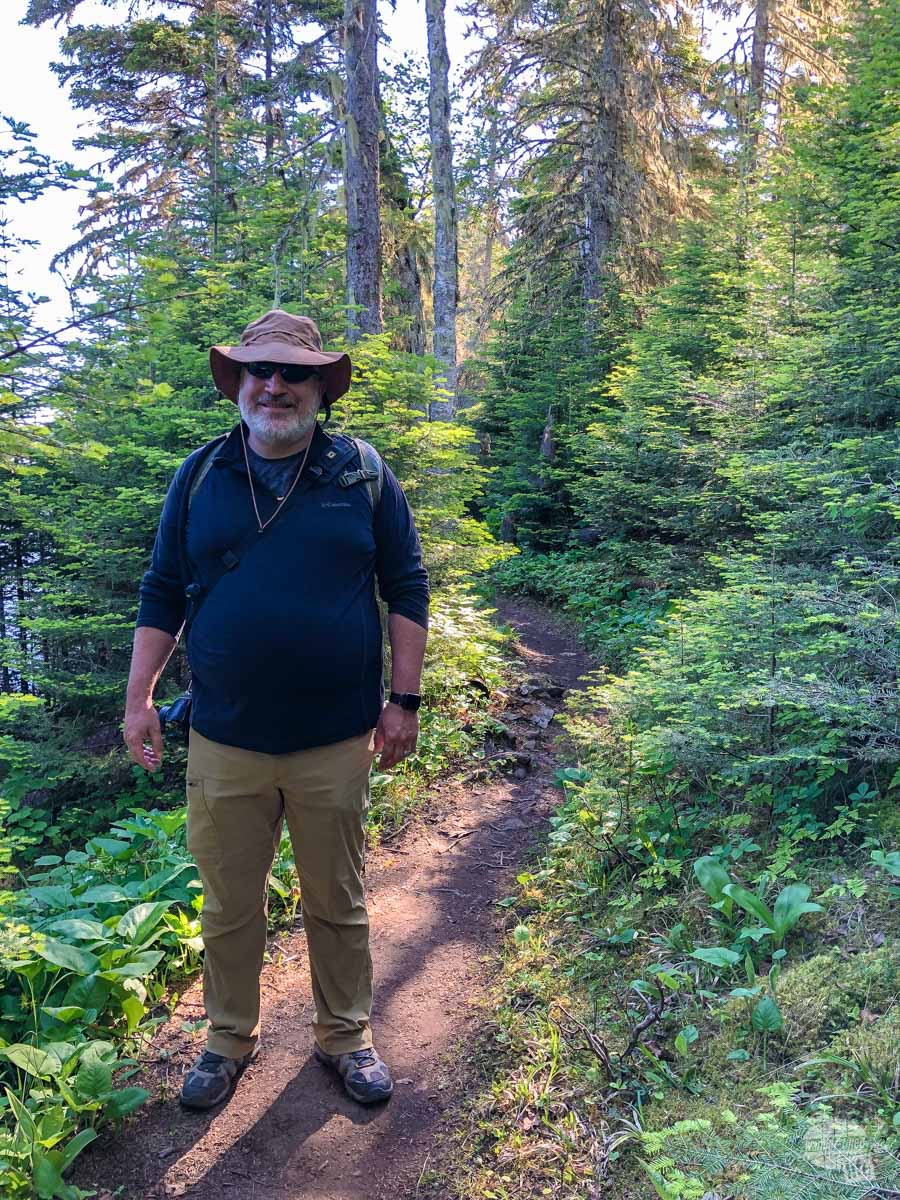 Grant on the Tobin Harbor Trail
