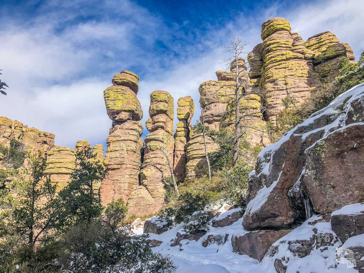 There are so many amazing views of the rock formations in Chiricahua National Monument.