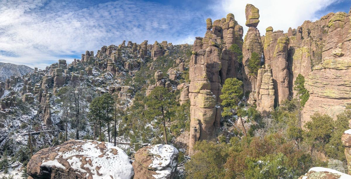 """Chiricahua National Monument is called a """"Wonderland of Rocks."""""""