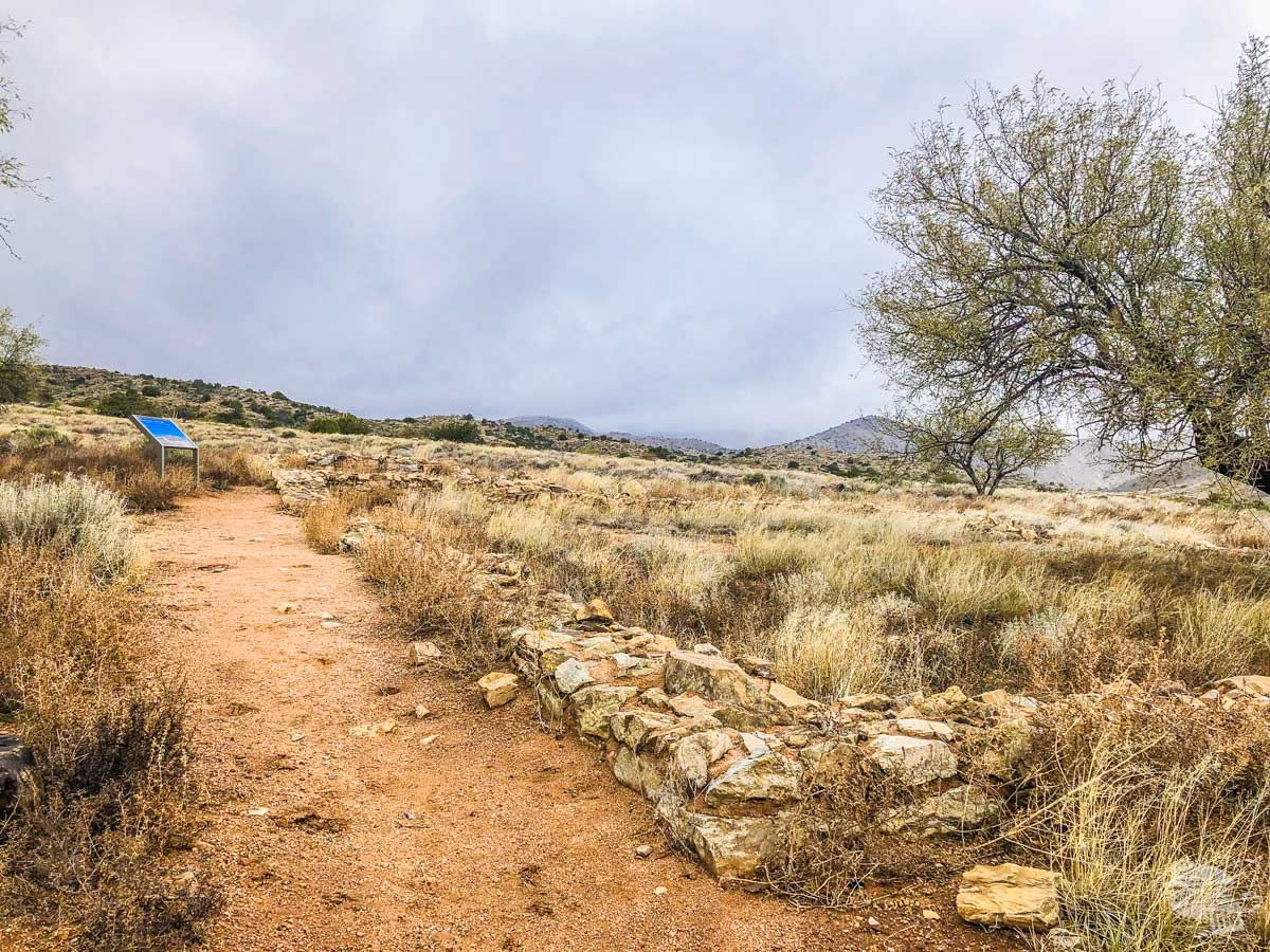 The ruins of the stage station for the Butterfield Overland Mail.