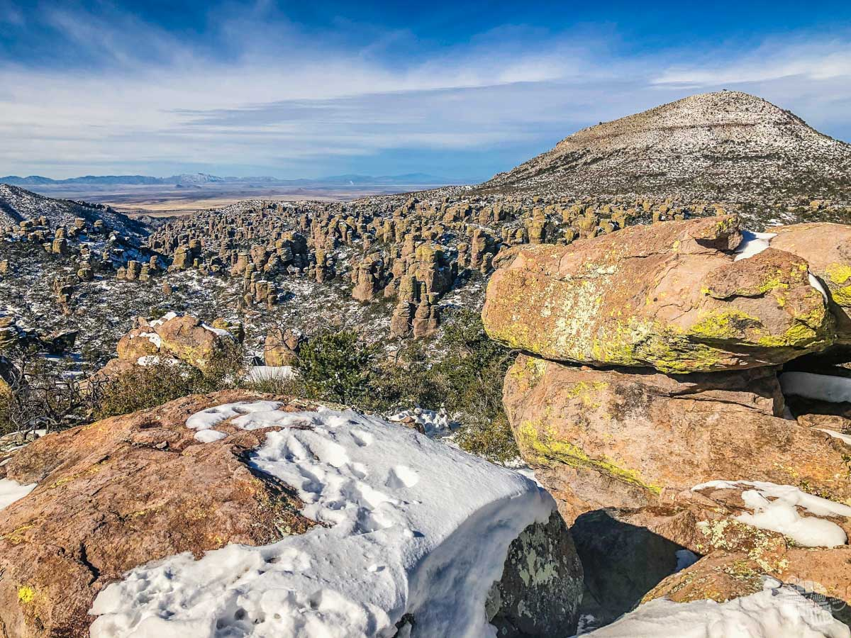 Sugarloaf Mountain from Massai Point in Chiricahua National Monument.