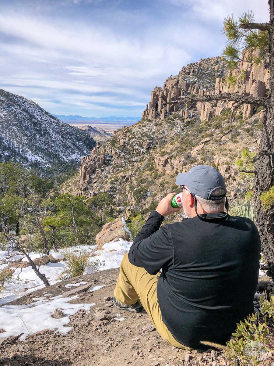 There's nothing like a tasty trail beer for admiring the view in Chiricahua National Monument.