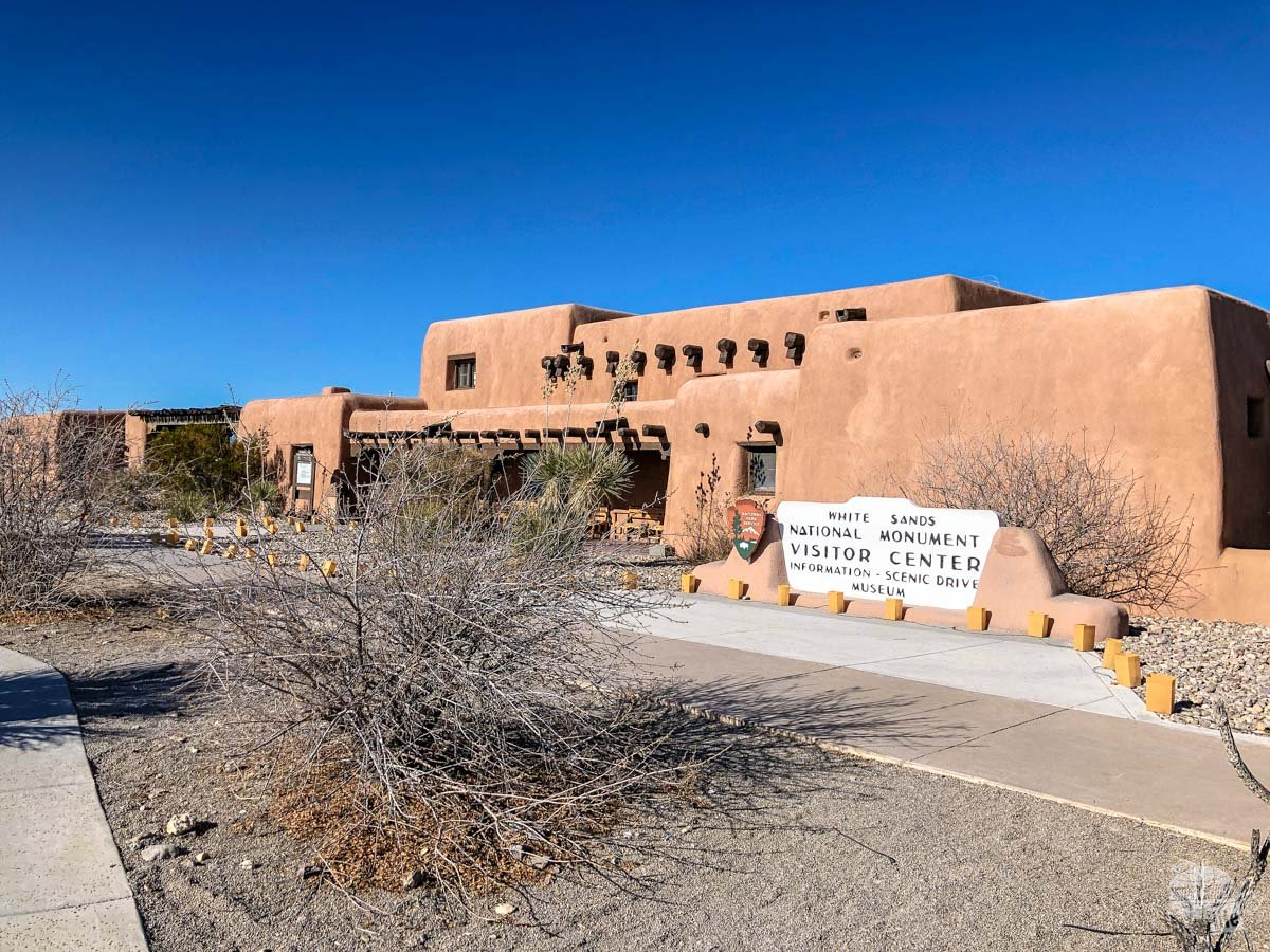 he visitor center at White Sands National Park... Note the name hasn't changed yet.