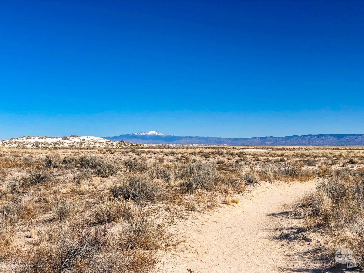 The Playa Trail is nicely packed and easy to walk.