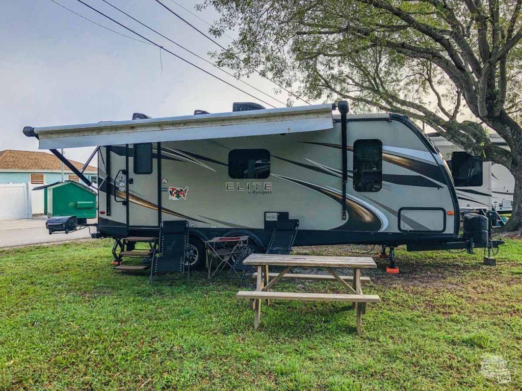 Our campsite at the Miami Everglades RV Resort