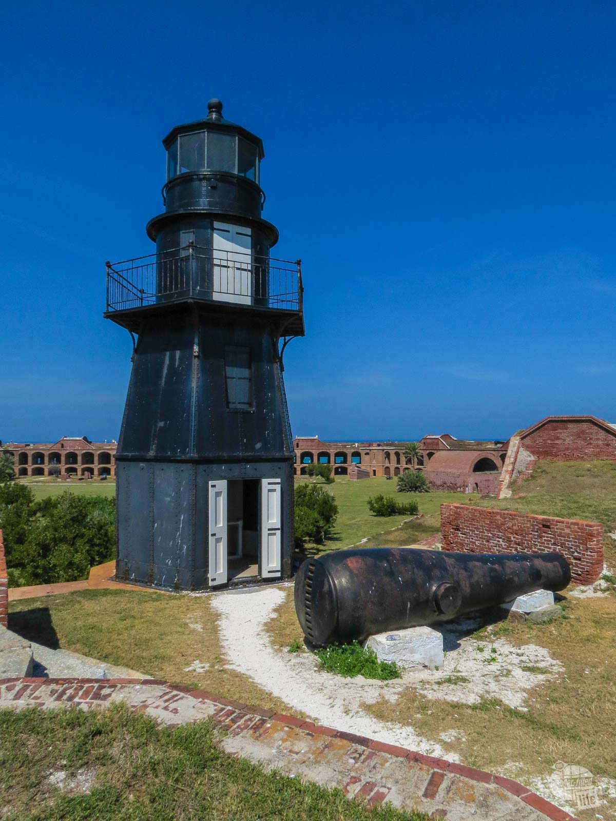 The Fort Jefferson Light at Dry Tortugas National Park.