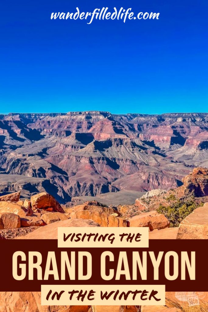 What to expect when visiting the Grand Canyon in winter. With cooler temperatures and smaller crowds, it can be a great time to visit.