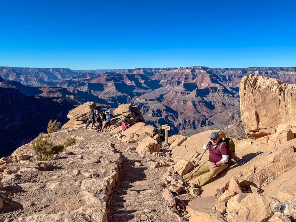 Ooh-Aah point along the South Kaibab Trail in Grand Canyon.