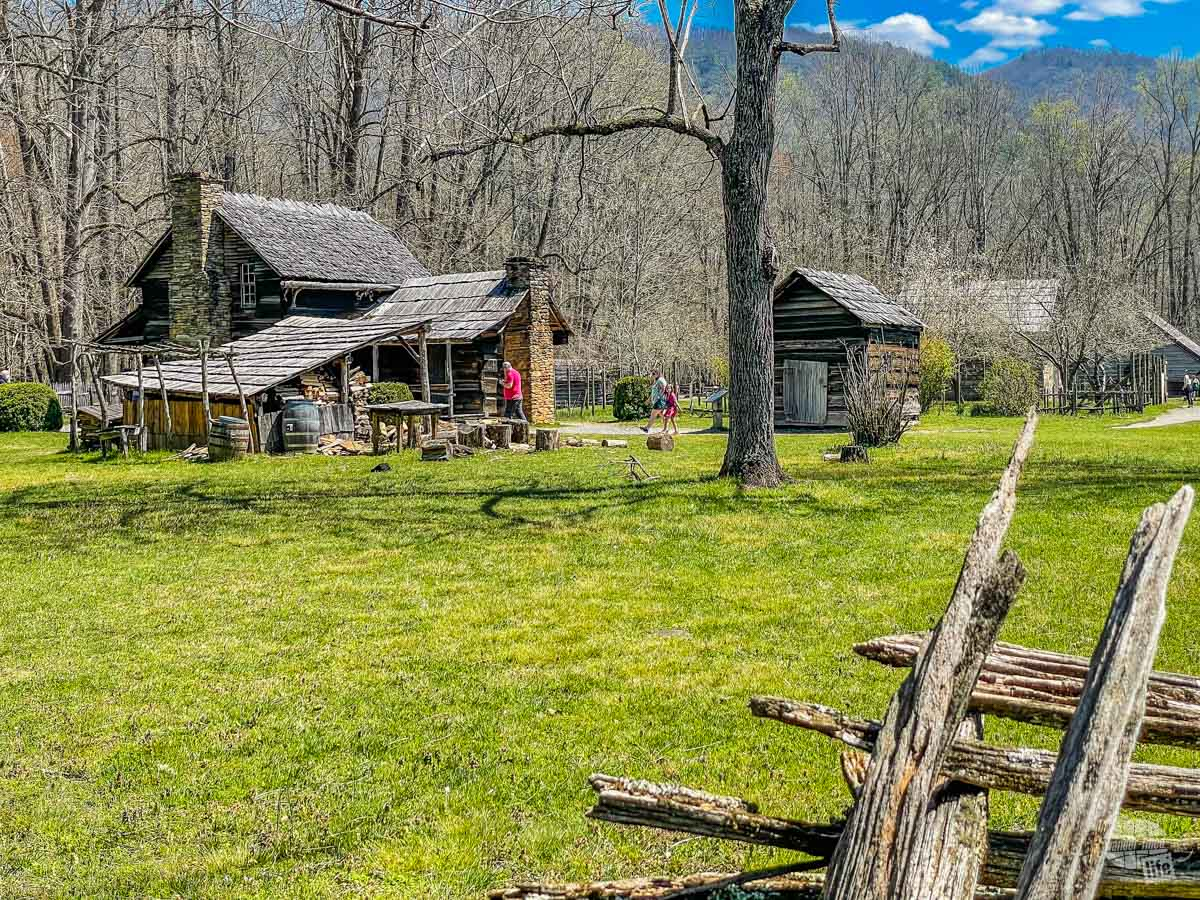 Cabins at the Oconaluftee Visitor Center